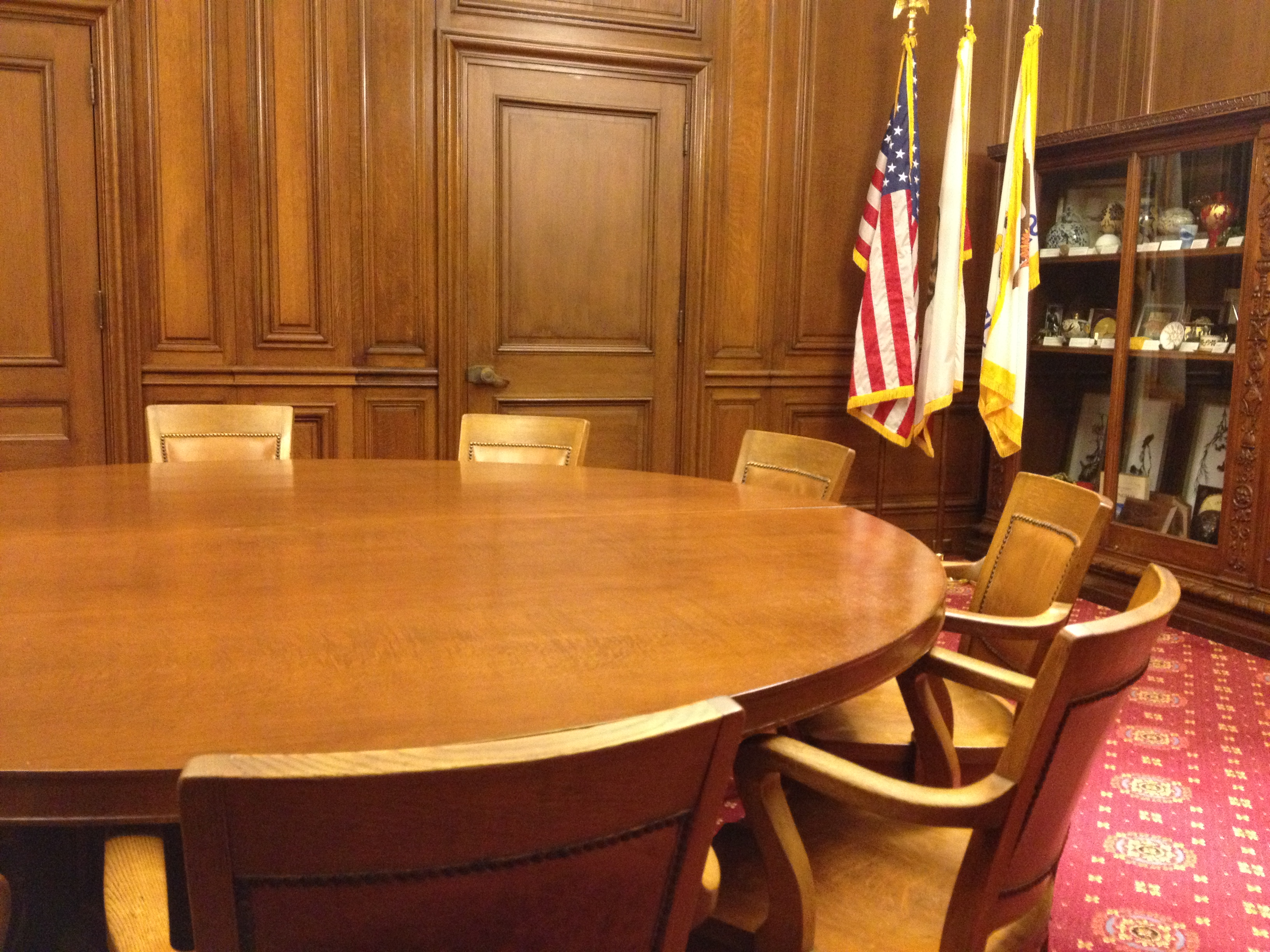 Waiting for the mayor of San Francisco in his meeting room